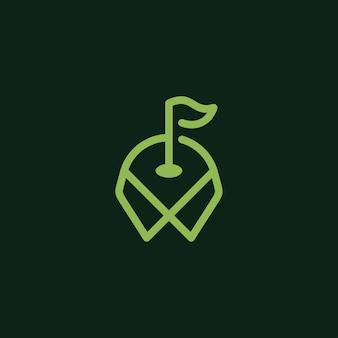 Golf logo and icon concept