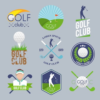Golf logo set