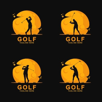 Golf logo silhouette on the moo
