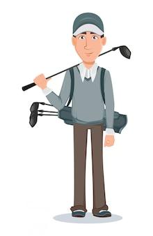 Golf player, handsome golfer