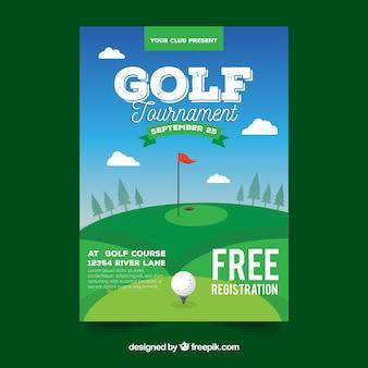 골프 포스터 템플릿
