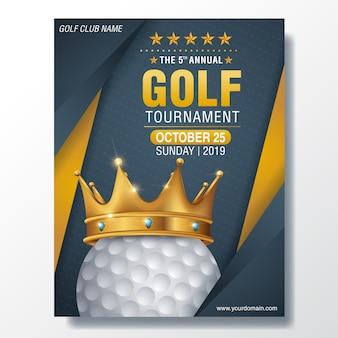 골프 포스터 벡터