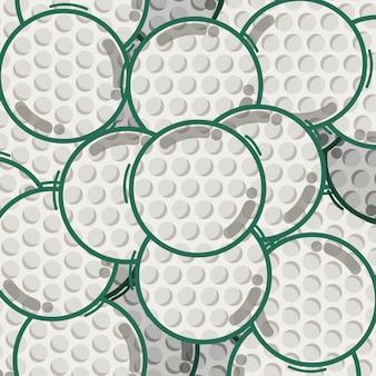 Golf sport balls pattern background