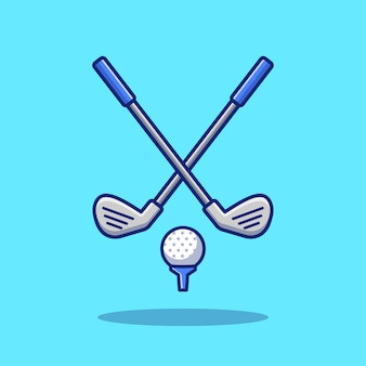Golf sport   icon illustration. sport golf icon concept isolated  . flat cartoon style