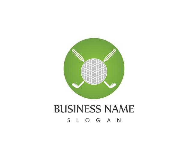 ゴルフスポーツアイコンのベクトルロゴ