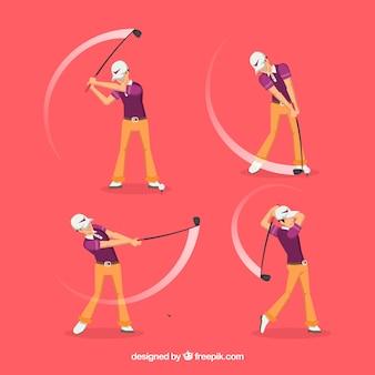 4의 골프 스윙 컬렉션