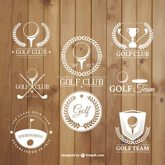 Golf tournament badges
