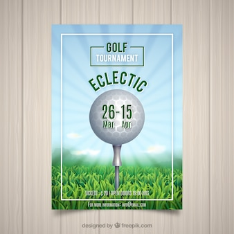 Летний турнир по гольфу в реалистичном стиле