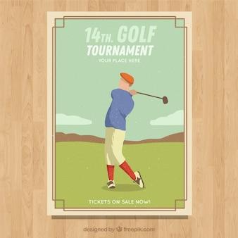 빈티지 스타일의 골프 토너먼트 전단지
