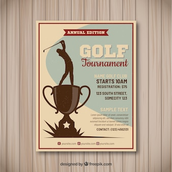 Golf tournament flyer in vintage style