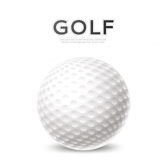 Golf tournament poster 3d golf ball