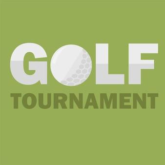Шаблон плаката турнира по гольфу. дизайн флаера в простом плоском стиле. векторная иллюстрация