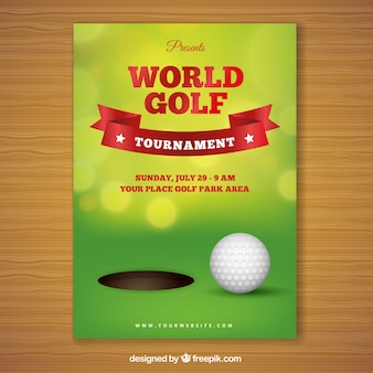 Golf tournament poster with hole