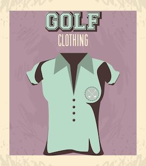 Golf uniform femenine shirt
