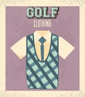 Golf uniform masculine shirt