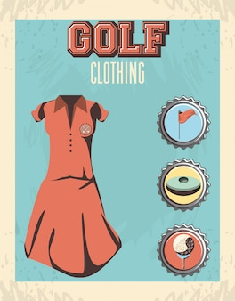 Golf uniform set clothes