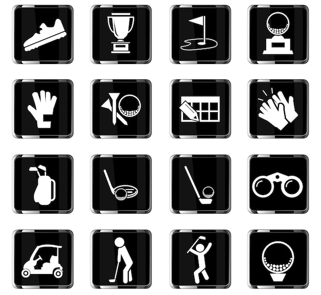 ユーザーインターフェイスデザインのゴルフベクトルアイコン