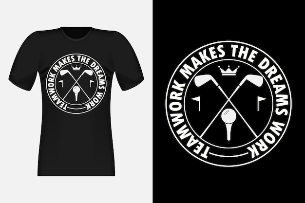 Golf with typography style vintage t-shirt design