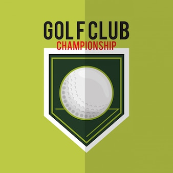 Golfing related icons image
