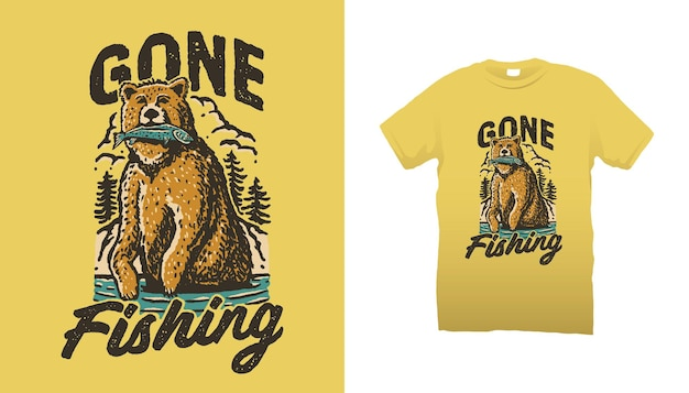 Ушла рыбалка иллюстрация медведя