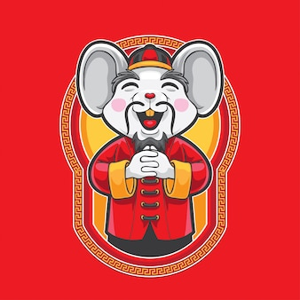 Gong xi fa cai mouse greeting
