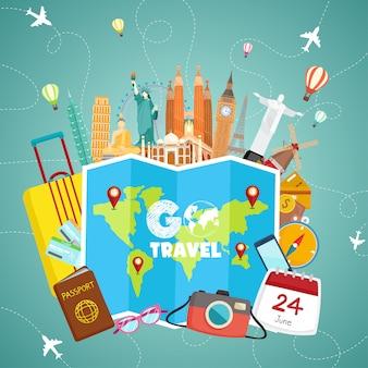 Goo travel иллюстрация