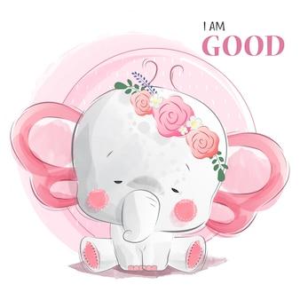 Good baby elephant