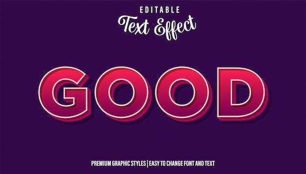 Good bold style редактируемый текстовый эффект