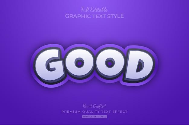 Good cartoon editable text style effect premium