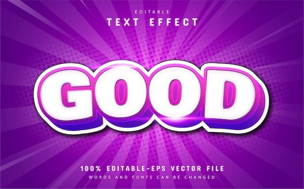 Good cartoon text effect with purple gradient