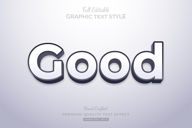 Good clean editable text effect font style