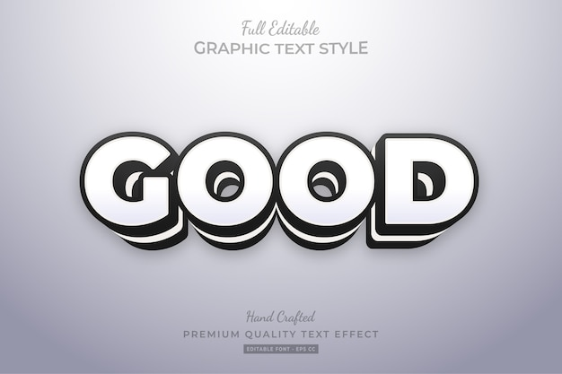 Good clean editable   text style effect