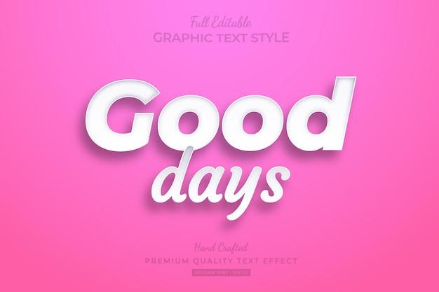 Good days clean editable premium text effect font style