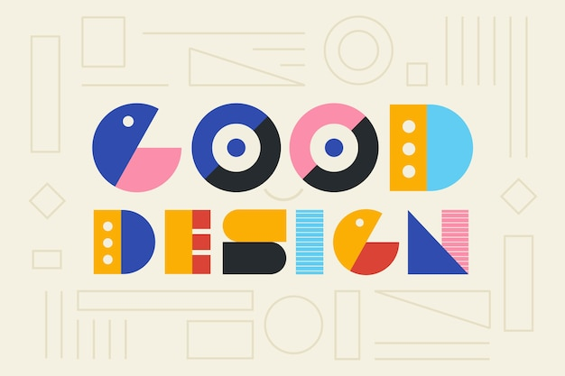 Good design graphic geometric lettering