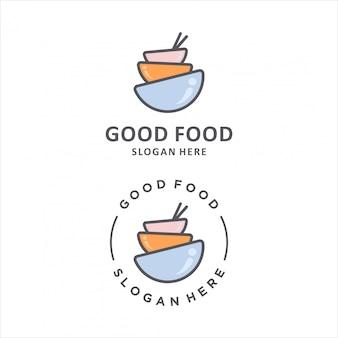 良い食べ物のロゴデザイン。