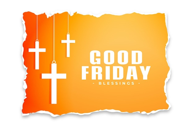 Good friday background in torn paper