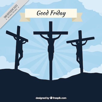 Good friday background with backlit illustration