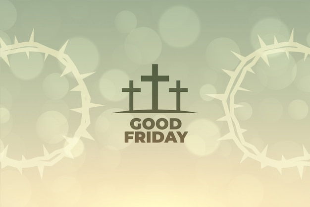 Good friday background with cross symbol design