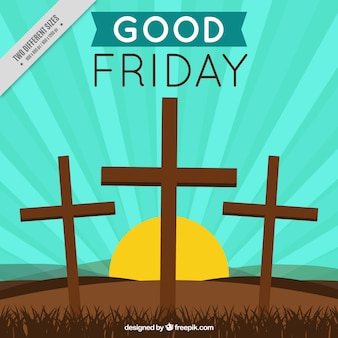 Good friday background with crosses