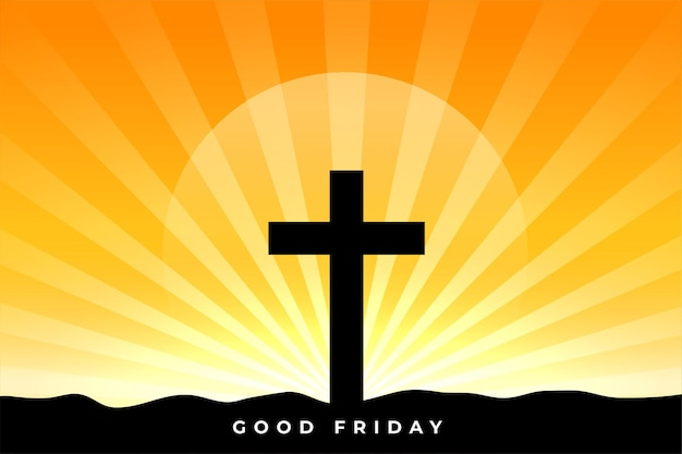 Benedizione del venerdì santo con croce e raggi di sole
