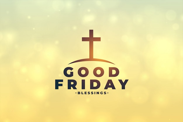 Good friday concept background with cross symbol