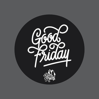 Good friday handlettering typography