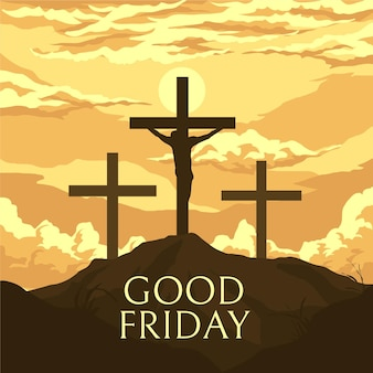 Good friday illustration with crosses