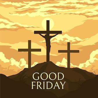 십자가와 좋은 금요일 그림