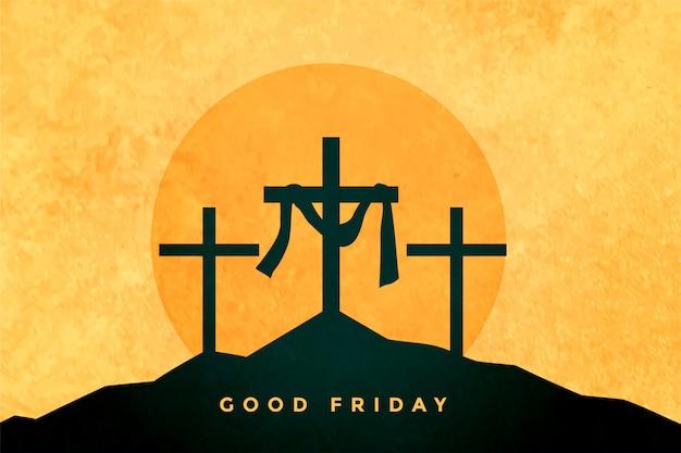 좋은 금요일 또는 부활절 날 배경