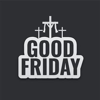 Good friday poster with cross symbols