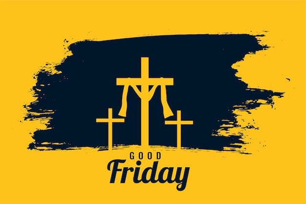 Good friday with crosses
