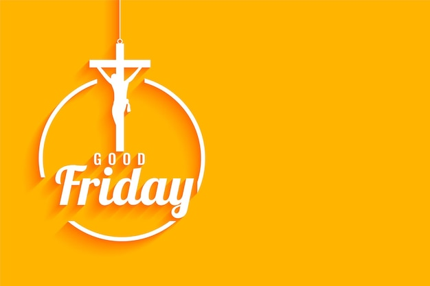 Good friday yellow with  jesus christ crucifixion cross