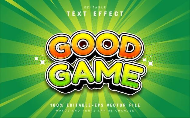 Good game cartoon text effect