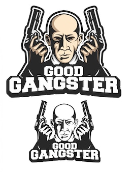 Good gangster logo mascot